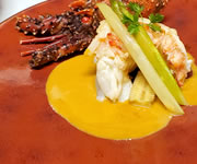フランス料理コース海老料理イメージ